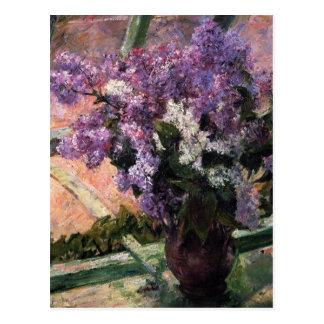 Cassatt: Lilacs in a Window Postcard