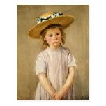Cassatt's Child in Straw Hat - with a Sweet Smile Postcard