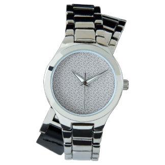 CASSETTE CLUSTER Silver Wrap-Around Watch