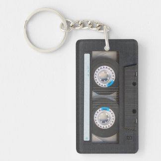 Cassette Tape Double-Sided Rectangular Acrylic Key Ring