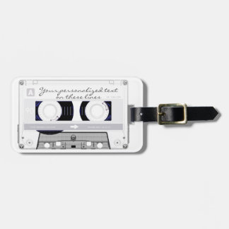 Cassette tape - white - luggage tag