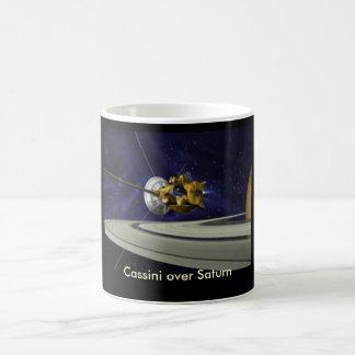 Cassini over Saturn Mug