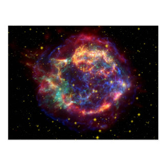 Cassiopeia Galaxy Supernova remnant Postcard