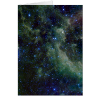 Cassiopeia nebula within the Milky Way Galaxy Card