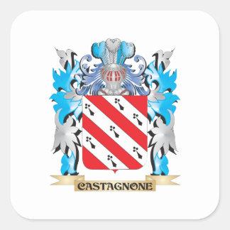 Castagnone Coat of Arms - Family Crest Square Sticker