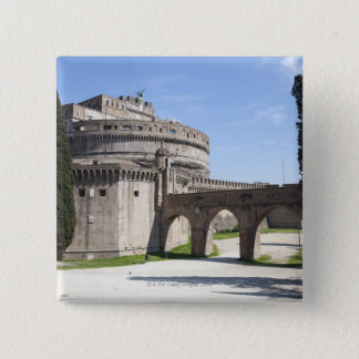 Castel Sant'Angelo is situated near the vatican, 2 15 Cm Square Badge