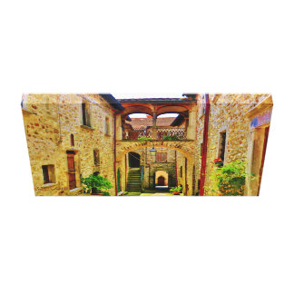 Castello di Malgrate Courtyard, Wrapped Canvas Gallery Wrap Canvas