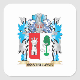 Castellone Coat of Arms - Family Crest Stickers