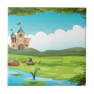 Castle and pond tile