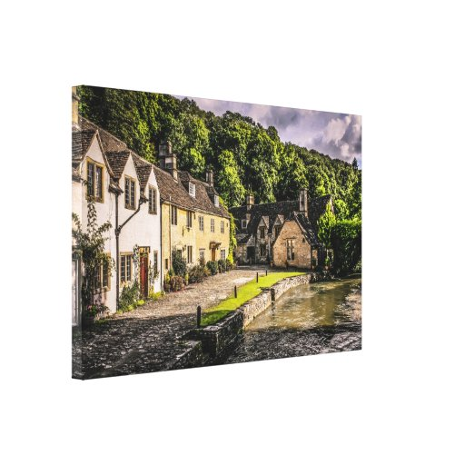 Castle Combe village in England Gallery Wrapped Canvas