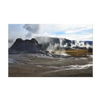 Castle Geyser and Upper Geyser Basin, Yellowstone Canvas Print