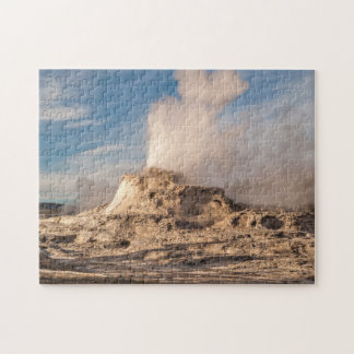 Castle Geyser in Yellowstone National Park Jigsaw Puzzle