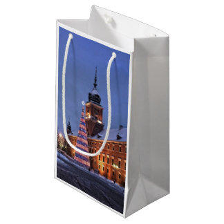 Castle in Christmas time Small Gift Bag