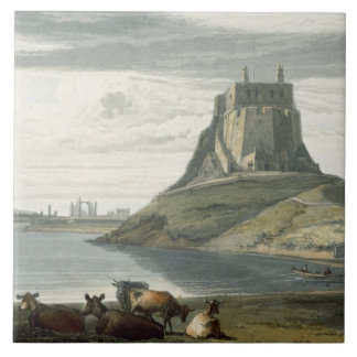 Castle on Holy Island, Northumberland, from 'A Voy Tile