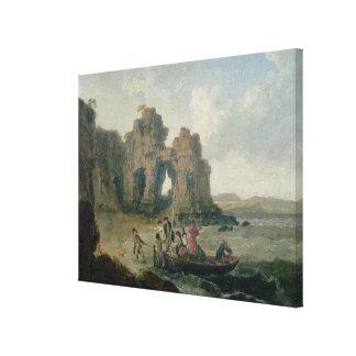 Castle Rock (Flatholm Island), Bristol Channel, 17 Canvas Print