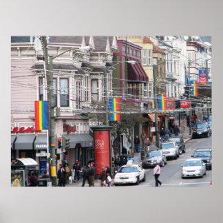 Castro Street - San Francisco, California Posters