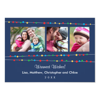 Casual Lights Holiday Photo Card Announcements