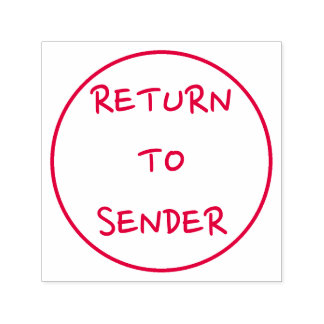 """Casual """"RETURN TO SENDER"""" in a Circle Outline Self-inking Stamp"""