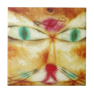 Cat and Bird - Paul Klee Tile