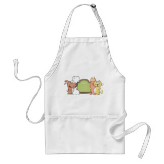 Cat and dog Apron