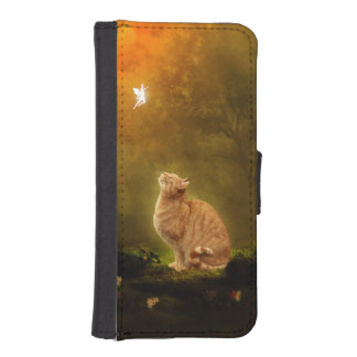 Cat and Fairy iPhone SE/5/5s Wallet Case
