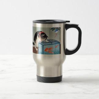 Cat and goldfish, Obara old 邨 Koson Stainless Steel Travel Mug