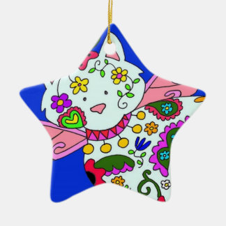 Cat Angel Ukrainian Folk Art Christmas Ornament