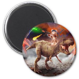 Cat armageddon - Dinosaur cat - bad cat - cat art Magnet