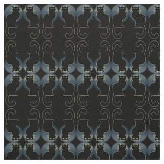 Cat Art Fabric Black Cat Fabrics Cat Lover Pattern