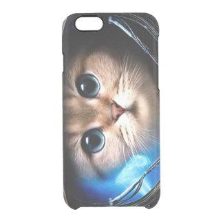 Cat astronaut clear iPhone 6/6S case