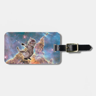 Cat astronaut - space cat - funny cats - cute cats luggage tag