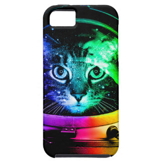 Cat astronaut - space cat - funny cats iPhone 5 cases