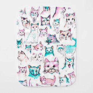 Cat Baby Burp Cloth