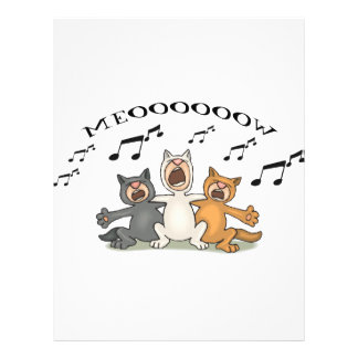 Cat Choir Full Color Flyer
