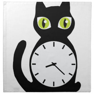 Cat Clock Napkin