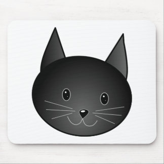 Cat. Cute black kitty. Mouse Pad