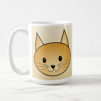 Cat. Cute ginger kitty. Basic White Mug