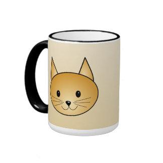 Cat. Cute ginger kitty. Ringer Mug