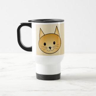 Cat. Cute ginger kitty. Stainless Steel Travel Mug