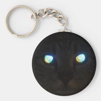 Cat Eyes Glow Deep, Priceless Basic Round Button Key Ring