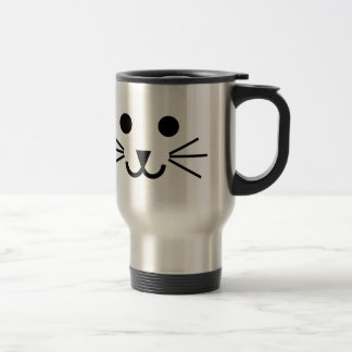 Cat Face Stainless Steel Travel Mug