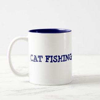 CAT FISHING Two-Tone COFFEE MUG