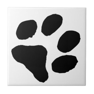 Cat Footprint Small Square Tile