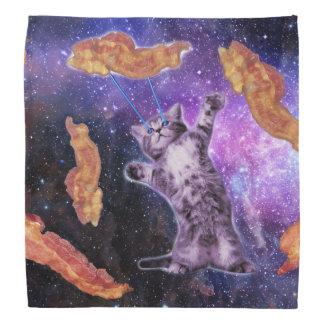 Cat Frying Bacon With Eye Laser Bandannas