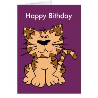 Cat Funny Birthday Postcard Greeting Card
