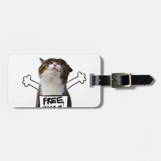 Cat hug - free hugs - cat memes luggage tag