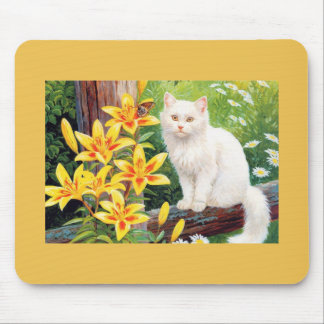 Cat In Garden Mousepad