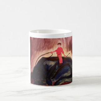 Cat Jockey Coffee Mug