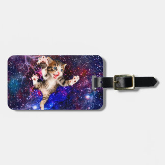 Cat jumping - cute cats - crazy cat luggage tag