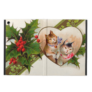 Cat Kitten Heart Shamrock Holly Cover For iPad Air